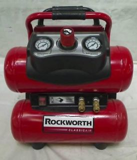 Rockworth RW1504ST 4 Gal Factory Reconditioned Portable Electric Air Compressor