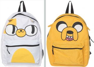Adventure Time Jake and Cake Reversible Bag Backpack New Back to School
