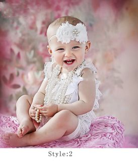 Girl Headband 7 M Baby Skirt Newborn Bodysuit Dress Photography Prop Costume