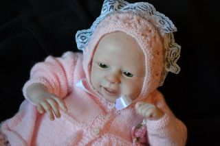 "Happy Reborn Baby Girl ""Loveable"" by Marita Winters Realistic Smiling Baby"