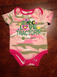 Baby Girl 0 3 Months John Deer Onesie Pink Camouflage Infant Children's Clothing