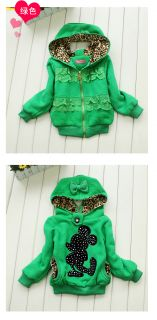 Wm Junoesque Toddler Girl Hoodie Coat Kids Minnie Mouse Bow Jacket Coat Costume