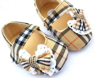 Bows Toddler Baby Girl Shoes Size 1 2 3