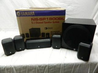 Yamaha NS SP1800BL 5 1 Channel Home Theater Speaker System Black