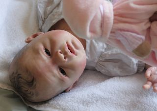 Beautiful Reborn Newborn Baby Girl Doll Lovelyn Sam's Reborn Nursery