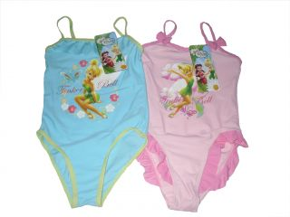 Girls Swimwear Swimsuit Swimming Costume Disney Tinkerbell 2 8 Years