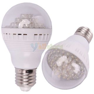 E27 3W 12V 60LED 240LM Pure White PC Energy Saving LED Lamp Light Bulb