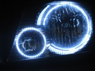 Ford Explorer White LED Headlight Halo Kit 2002 2005