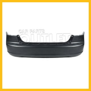 01 02 03 Honda Civic Coupe Rear Bumper Cover Primered Black Plastic 2dr EX LX SI