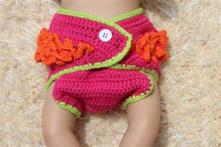 Cute Handmade Colorful Owl Newborn Baby Girl Knit Crochet Nappy Photo Prop New