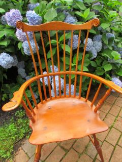 1930s American Cabinet Makers Hand Made Windsor Fan Chair Signed w S