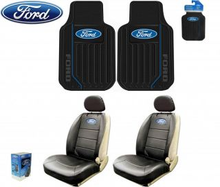 6 PC Ford Elite Front Seat Covers Front Floor Mats Fast