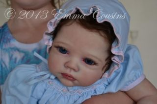 Emma Rose Artistry Adorable Reborn Baby Girl Emily Rainer by Romie Strydom