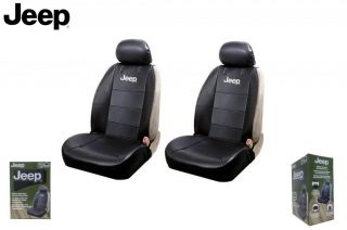 Jeep Elite Mopar Seat Covers Black Synthetic Leather Side Air Bag Ready