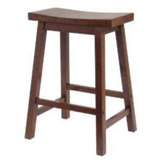 Winsome Saddle Seat 24 inch Counter Stool Walnut