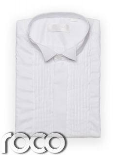 Boys Wing Collar Shirt Wedding Prom Page Boy Formal White Wing Collared Shirt