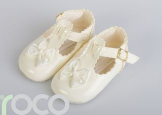 Girls Ivory Shoes Christening Bridesmaid Wedding 0 18M