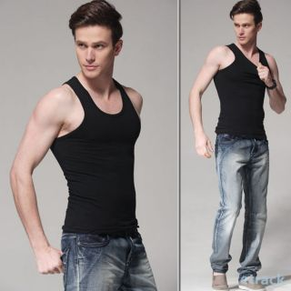 Casual Male Vest Undershirts Slim Mens Sleeveless T Shirts Tank Top New 3 Size