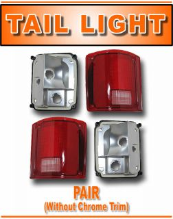 73 91 Chevy PU Pickup Truck Rear Tail Light Lamp Pair