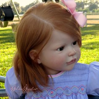 "Golden Giggles Reborn Baby Girl Toddler ""Sally"" by Regina S"