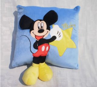 Disney Star Blue Mickey Stuffed Plush Warm Hand Pillow Girl Gifts New