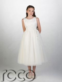 Girls Ivory Flower Girl Dress Wedding Prom Bridesmaid Dresses Age 1 14 Years