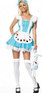 New Sexy Blue Maid Girl Outfit Costume Halloween Fancy Dress Cosplay Partywear