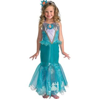 Child Disney Princess Storybook Little Mermaid Ariel Prestige Dress Costume