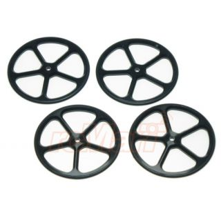 Yeah Racing Aluminum Set Up Wheels for 1 10 RC Touring Car BK YT 0069BK