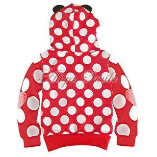 Polka Dots Toddler Girls Hoodie Coat Kids Minnie Mouse Bow T Shirt Costume 12M 5