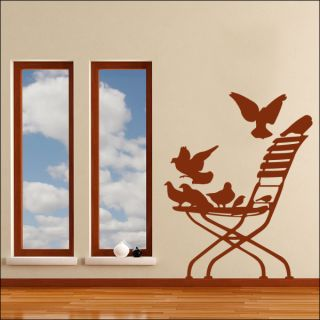 Butterfly Bush Tree Leaf Flower Wall Sticker Art Decal
