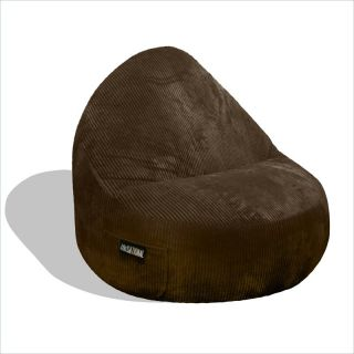 Elite Products Deluxe Cord Sitsational 2 Seater Chair Chocolate Bean Bag