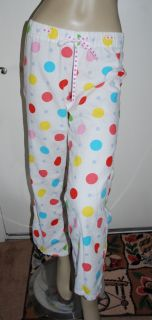 Victorias Secret Pink Size XS White Polka Dot Flannel PJ Pajama Lounge Pants