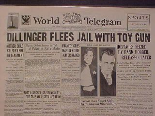 John Dillinger Newspaper