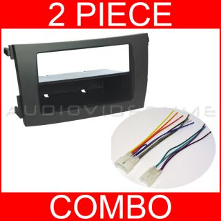 2009 2012 Toyota Corolla Double Single DIN Radio Install Dash Kit Harness 2011