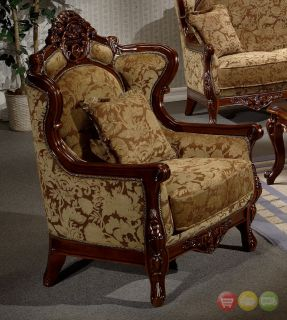 Formal Luxury Sofa Loveseat Chair Table 4 Piece Set Traditional Style HD 839