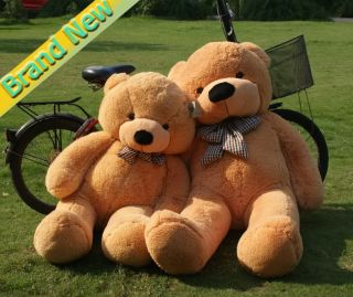 "New Giant 47"" Huge Cuddly Stuffed Plush Teddy Bear Toy Animal Doll 1 2M"
