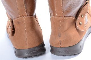 Baby Phat Brown 8 5 Synthetic Leather Lace Up Uma Faux Fur Cuff Boot Shoe NWD