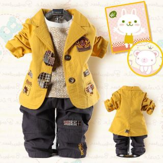 Cool Baby Boy Outfit Winter Clothes Suit Outwear Coat Pants Jacket Sets Fashion
