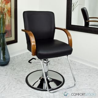 Black Modern Fashion Classic Hydraulic Barber Chair Hair Styling Salon Beauty