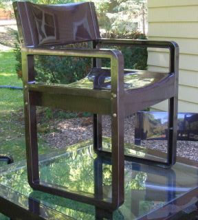 Vintage Syroco Glass Top Table 4 Chairs