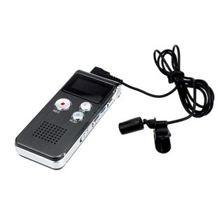 4GB Steel Digital Voice Telephone Audio Recorder Pen  Player Grey Dictaphone