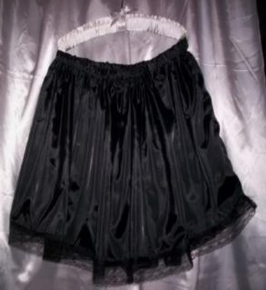 Custom Made Adult Sissy Womens Mens CD TV Sexy Black Satiny Mini Skirt