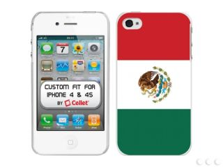 iPhone 4 4S Mexico Mexican Flag Bandera Rubberized Cellet Protector Cover Case