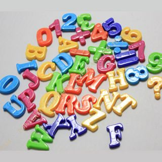 3 Styles 26 Letter Alphabet Number Sign Fridge Magnet Baby Educational Toy JZ9
