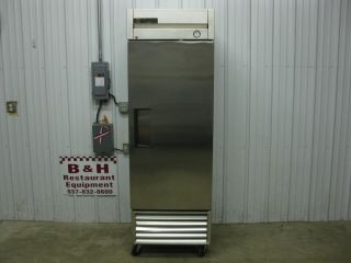 True T 23F One 1 Door Stainless Steel Commercial Reach in Freezer