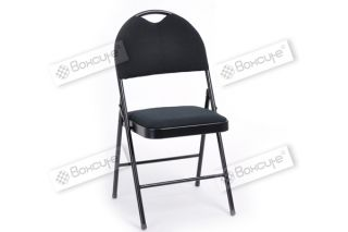 2pcs XL Size Commercial Quality Black Metal Folding Chair Furniture Home Outdoor