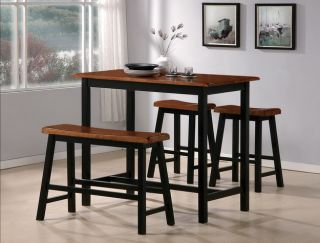 Tyler 4 Piece Counter Height Table Set by Crown Mark