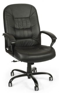 Big Tall Top Grain Leather Chair Big Man's Home Office Chair Heavy Duty