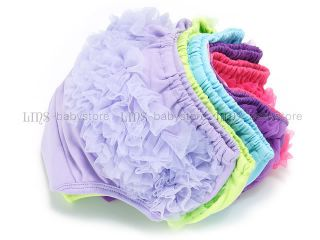 Baby Girl Lace Lacy Ruffle Diaper Covers Bloomers Pink Green Lavender Purple